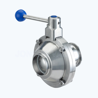 Sanitary Butterfly type high purity ball valves