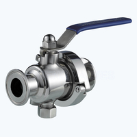 Sanitary Portable non dead leg ball valves