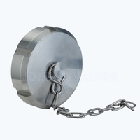 Sanitary DIN-13BR blind nuts with chain