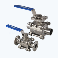 Sanitary extra-clean 3PC ball valves