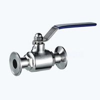 Sanitary triclover 2PC ball valves