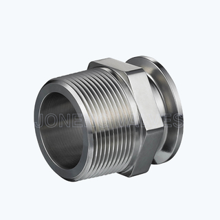 Sanitary 21MP male-clamp pipe adapters